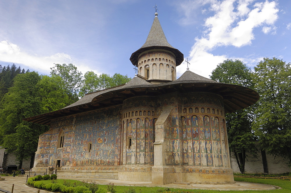 Painted monastery of Voronet, Moldavia and Southern Bukovina, Romania, Europe