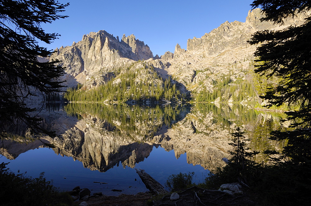 Baron Lake, Sawtooth Mountains, Sawtooth Wilderness, Sawtooth National Recreation Area, Rocky Mountains, Idaho, United States of America, North America
