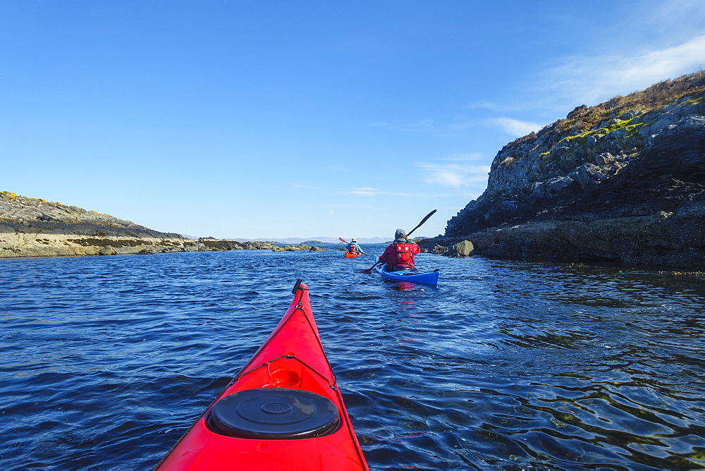 Sea kayaking around the Inner Hebrides, Scotland, United Kingdom, Europe - 762-796