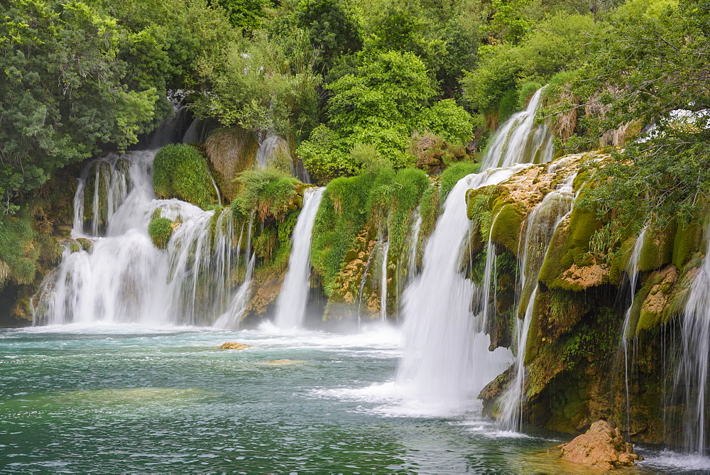 Skradinski Buk, waterfalls, Krka National Park, Croatia, Europe - 762-806