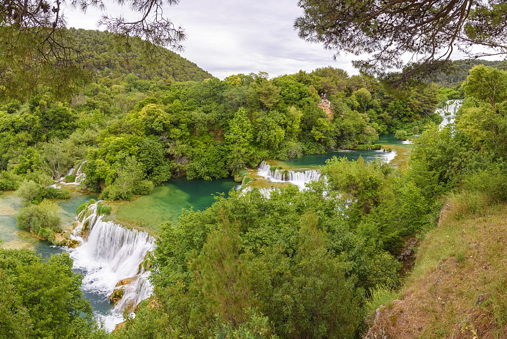 Skradinski Buk, waterfalls, Krka National Park, Croatia, Europe - 762-807