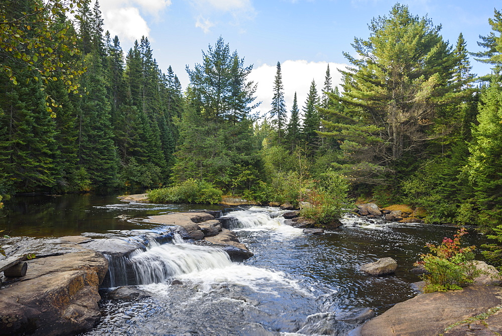 Waterfalls, Highland Backpacking Trail, Algonquin Provincial Park, Ontario, Canada - 762-819