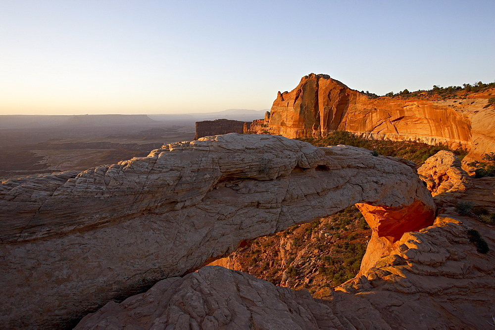 Mesa Arch at sunrise, Canyonlands National Park, Island In The Sky District, Utah, United States of America, North America