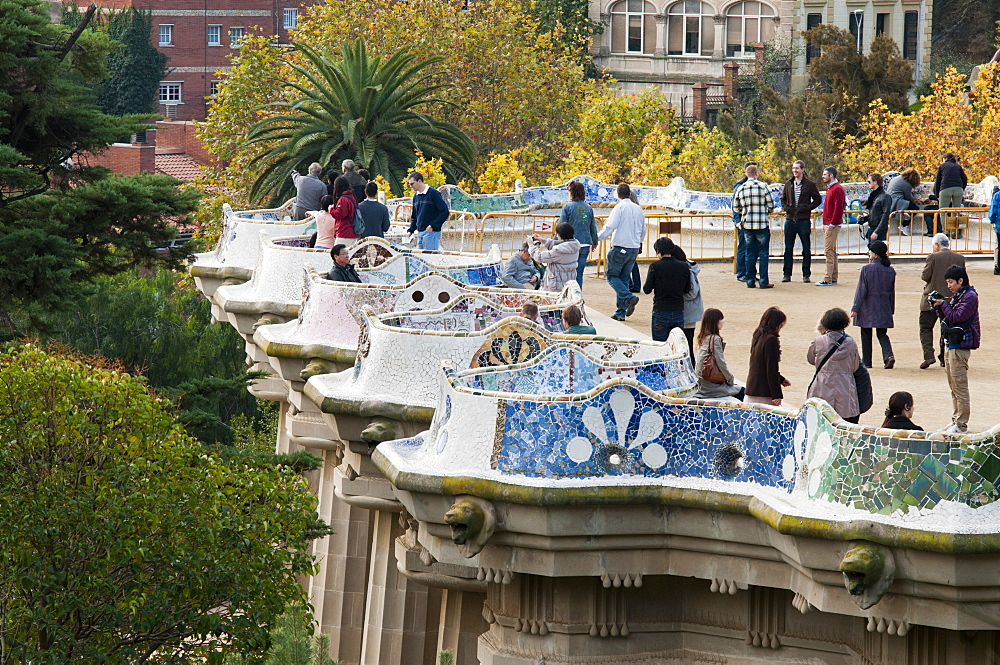 Guell Park (Parc Guell), Unesco World Heritage Site, Barcelona, Catalunya (Catalonia) (Cataluna), Spain, Europe - 765-1458