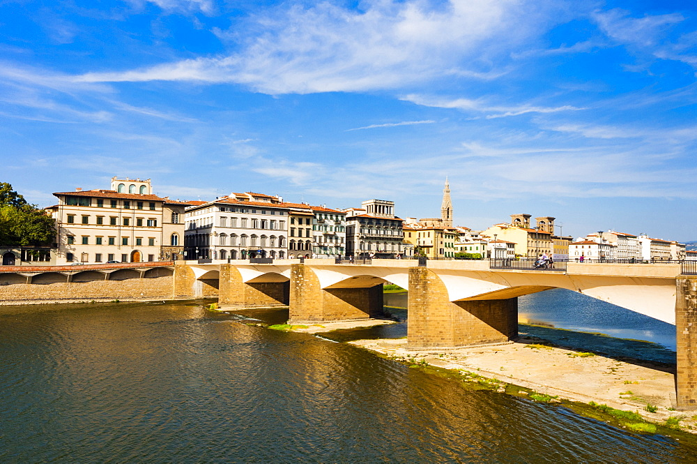 Ponte alla Carraia over the Arno River, Florence, UNESCO World Heritage Site, Tuscany, Italy, Europe