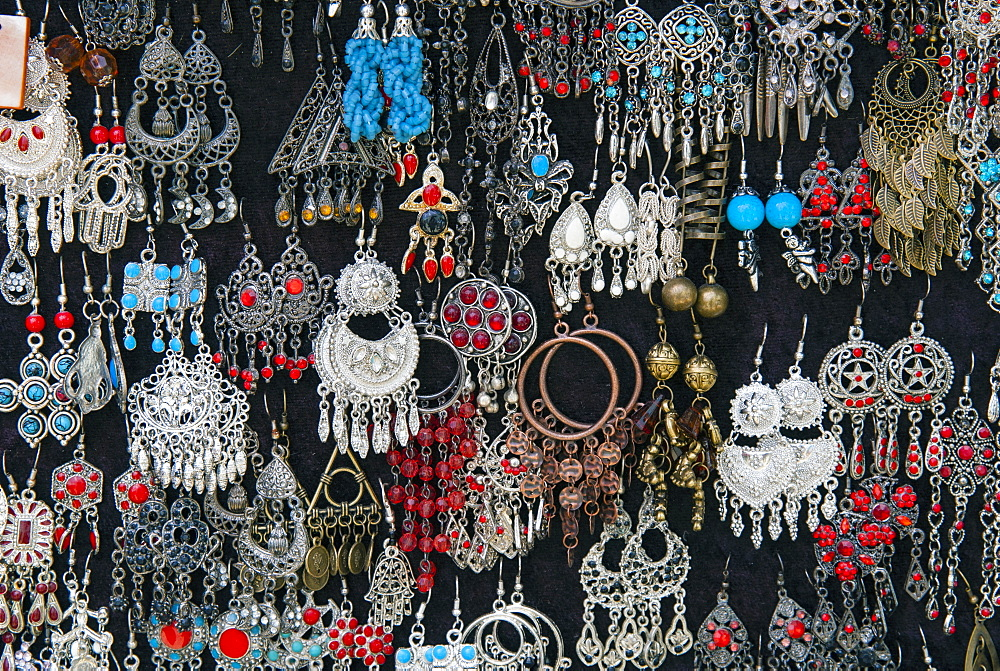 Earrings for sale, Sidi Bou said, Tunisia, North Africa, Africa - 765-1909