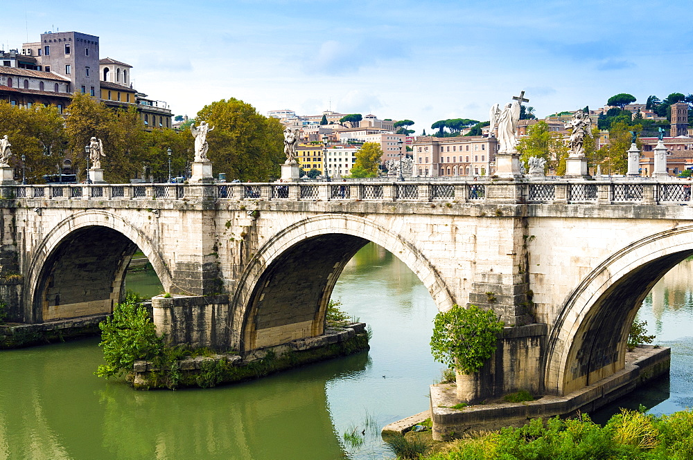 Ponte Sant'Angelo, river Tiber, Unesco World Heritage Site, Rome, Latium, Italy, Europe - 765-1939