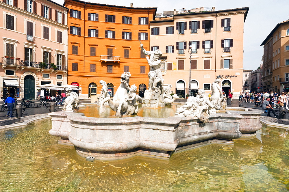 Fountain of Neptune, Piazza Navona, Rome, Unesco World Heritage Site, Latium, Italy, Europe - 765-1943