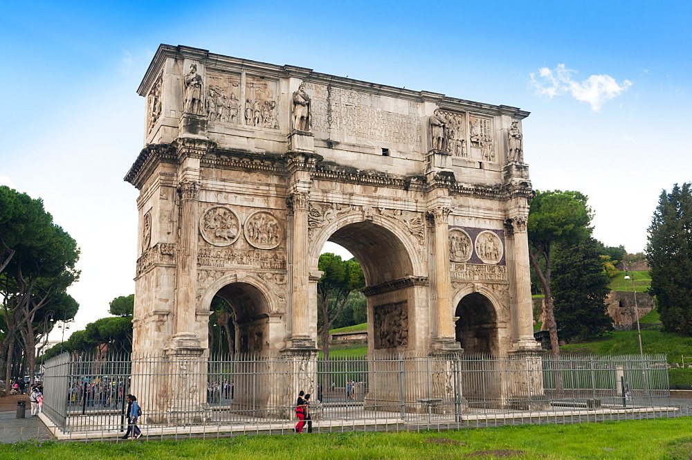 Arch of Constantine, Arco di Costantino, Rome, Unesco World Heritage Site, Latium, Italy, Europe - 765-1952