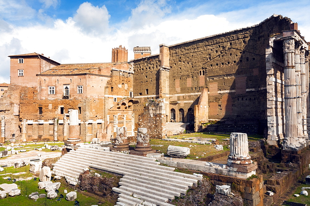 Remains of Forum of Augustus with the Temple of Mars Ultor, Rome, Unesco World Heritage Site, Latium, Italy, Europe