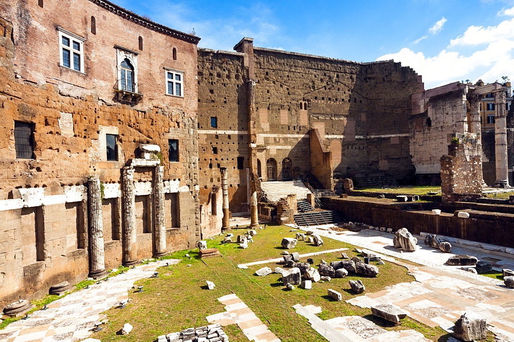 Remains of Forum of Augustus, Side porticoes, Rome, Unesco World Heritage Site, Latium, Italy, Europe