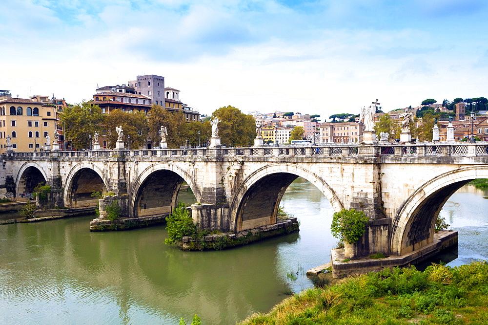 Ponte Sant'Angelo, Tiber River, Rome, Lazio, Italy, Europe - 765-1986