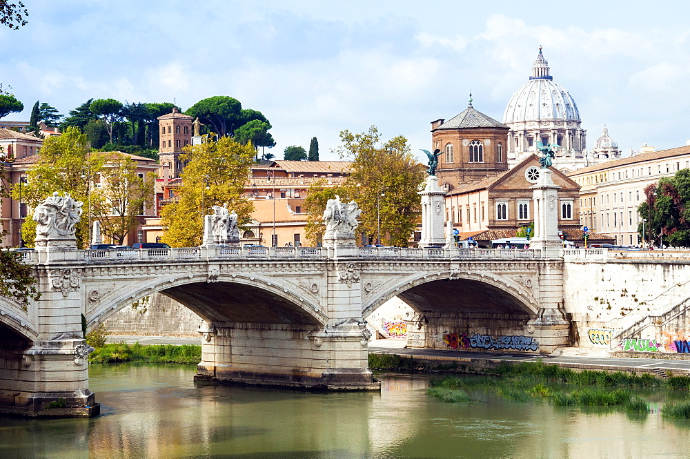 Ponte Vittorio Emanuele II over the River Tiber, Rome, Lazio, Italy, Europe