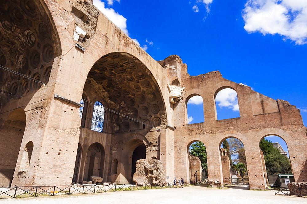 Basilica of Maxentius or Constantine, Roman Forum, Rome, Unesco World Heritage Site, Latium, Italy, Europe