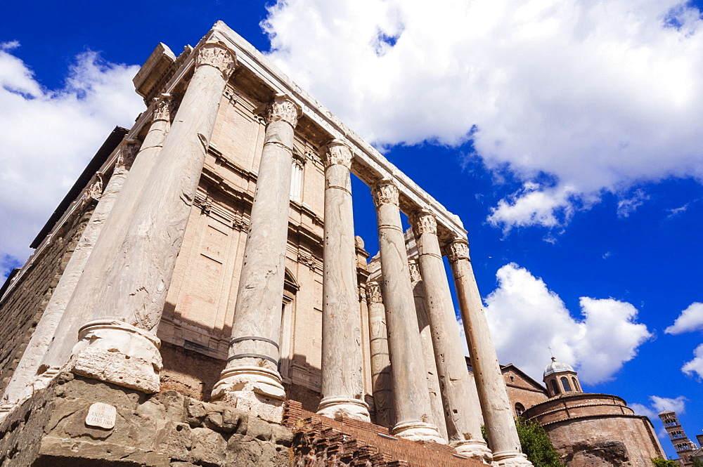 Temple of Antoninus and Faustina, Roman Forum, UNESCO World Heritage Site, Rome, Lazio, Italy, Europe