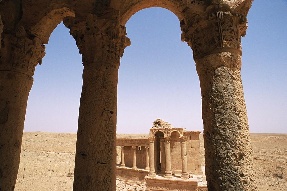 Tomb, North Necropolis, Ghirza, Cyrenaica, Libya, North Africa, Africa