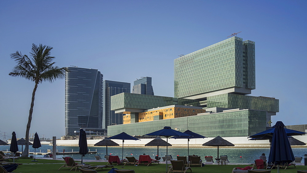 New Business Center on Al-Maryah Island, Abu Dhabi, United Arab Emirates, Middle East