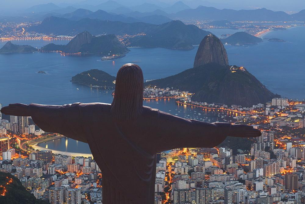 Statue of Christ the Redeemer, Corcovado, Rio de Janeiro, Brazil, South America - 772-3487