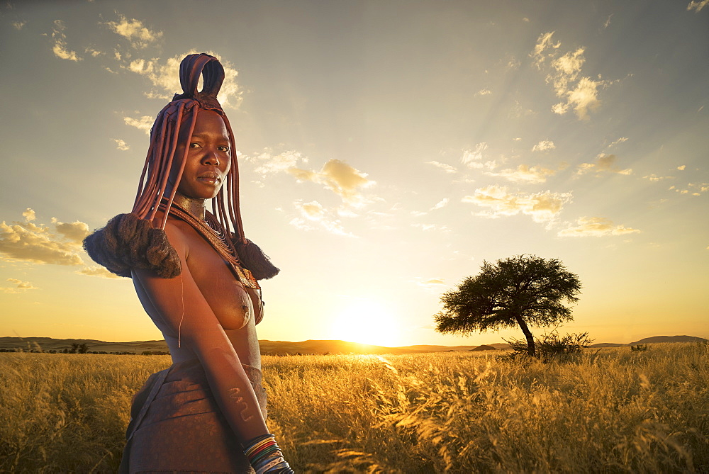 Himba woman, Kaokoland, Namibia, Africa - 772-3631