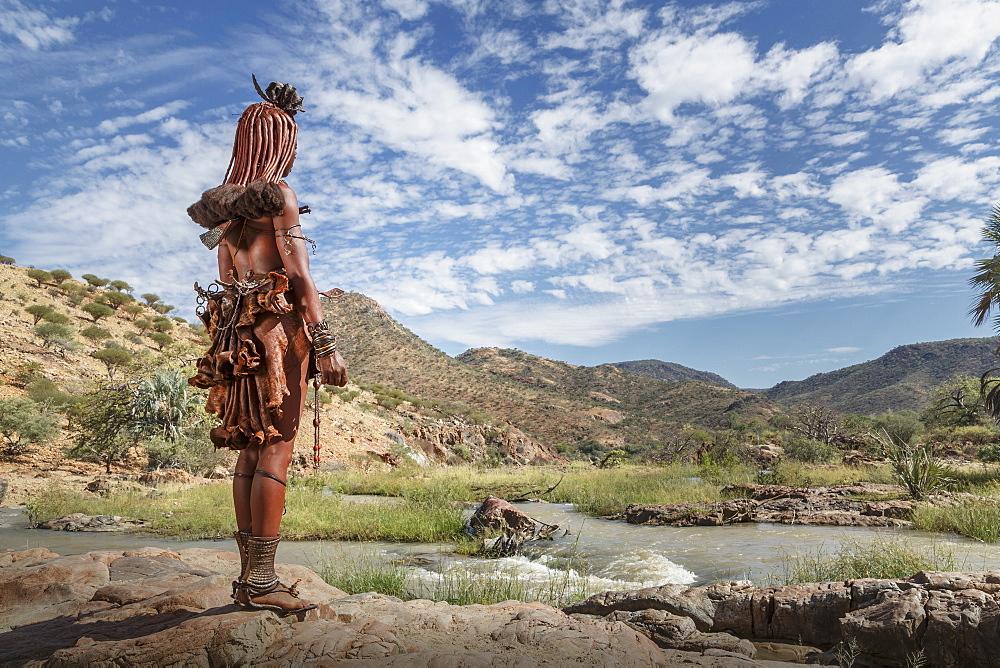 Himba people, Kaokoland, Namibia, Africa