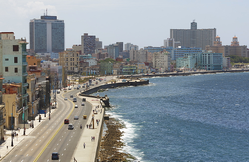 The Malecon, Havana, Cuba, West Indies, Caribbean, Central America - 772-3675