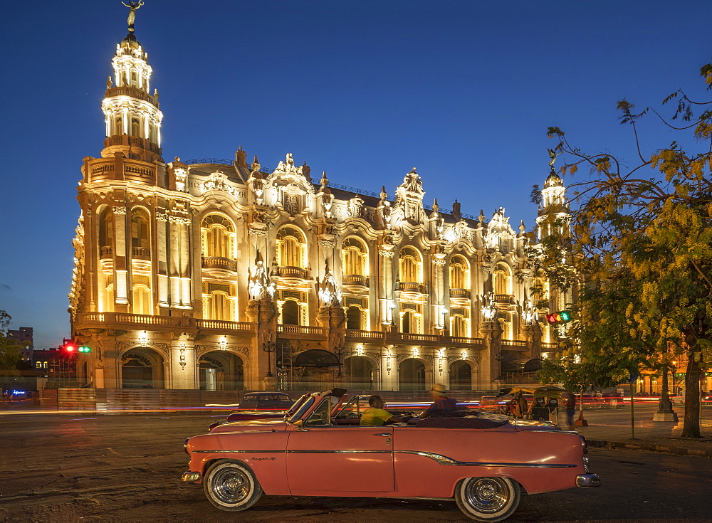 Havana at night, Cuba, West Indies, Caribbean, Central America