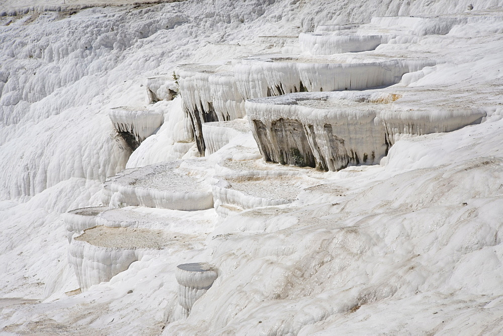 Limestone Terrace, Pamukkale, UNESCO World Heritage Site, Anatolia, Turkey, Asia Minor, Eurasia - 783-107
