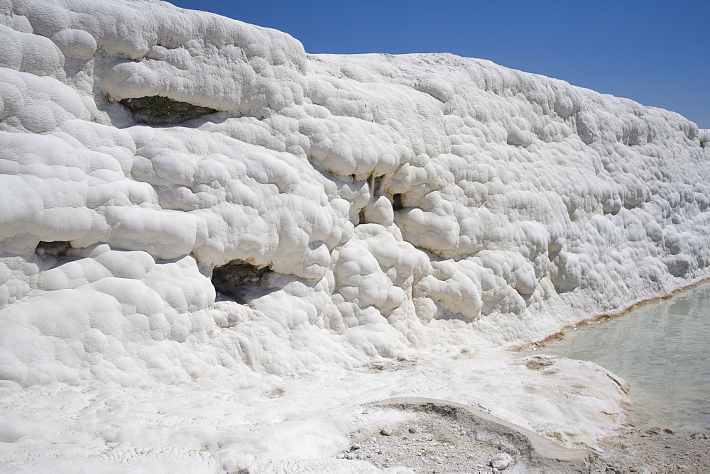 Limestone Terrace, Pamukkale, UNESCO World Heritage Site, Anatolia, Turkey, Asia Minor, Eurasia - 783-109