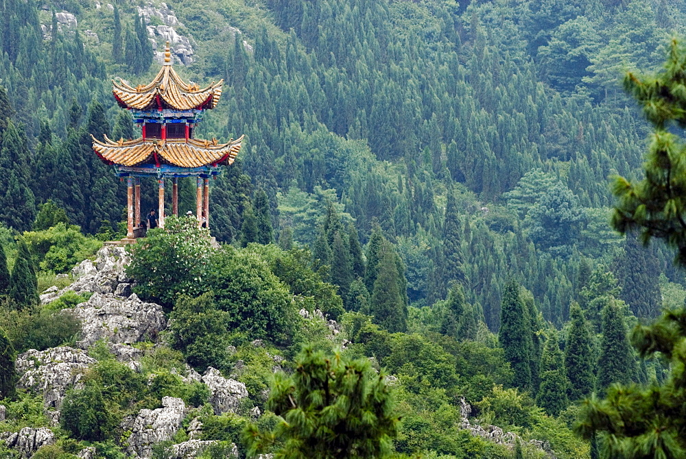Pagoda on hillside outside Kunming, Kunming, Yunnan, China, Asia - 784-24
