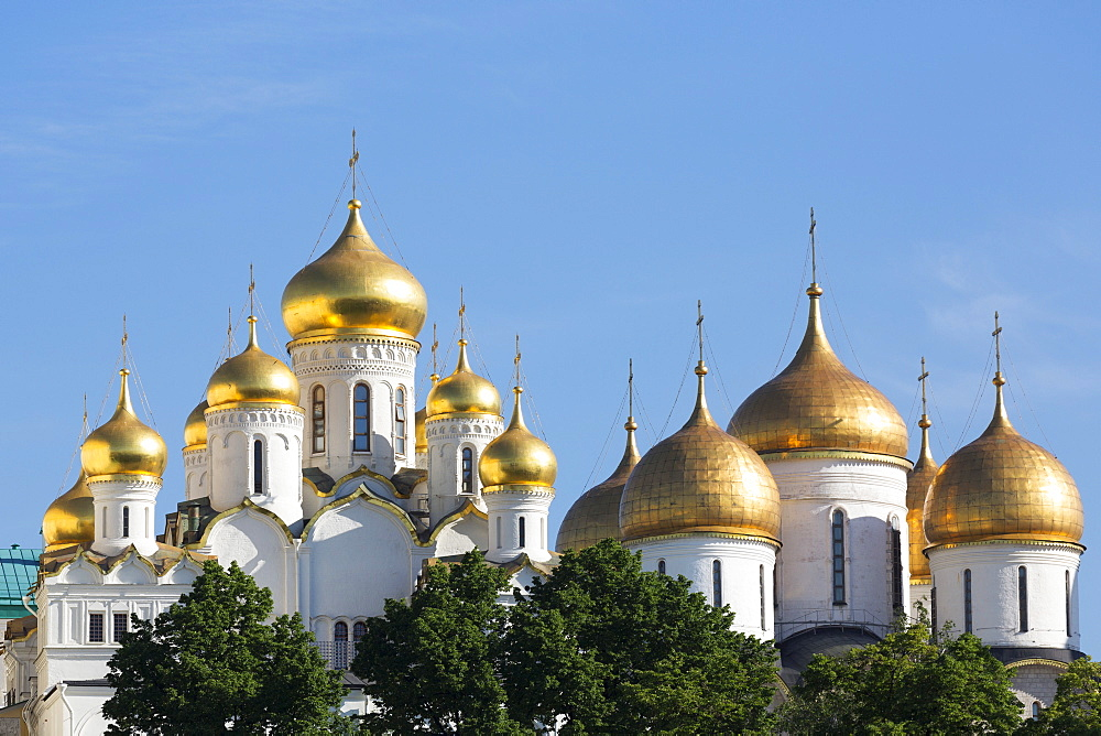 Cathedral of the Annunciation in the Kremlin, UNESCO World Heritage Site, Moscow, Russia, Europe