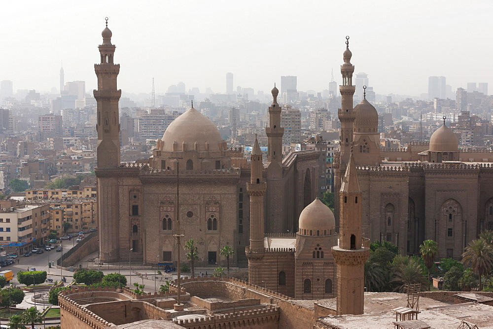 Mosque of Sultan Hassan in Cairo old town, Cairo, Egypt, North Africa, Africa