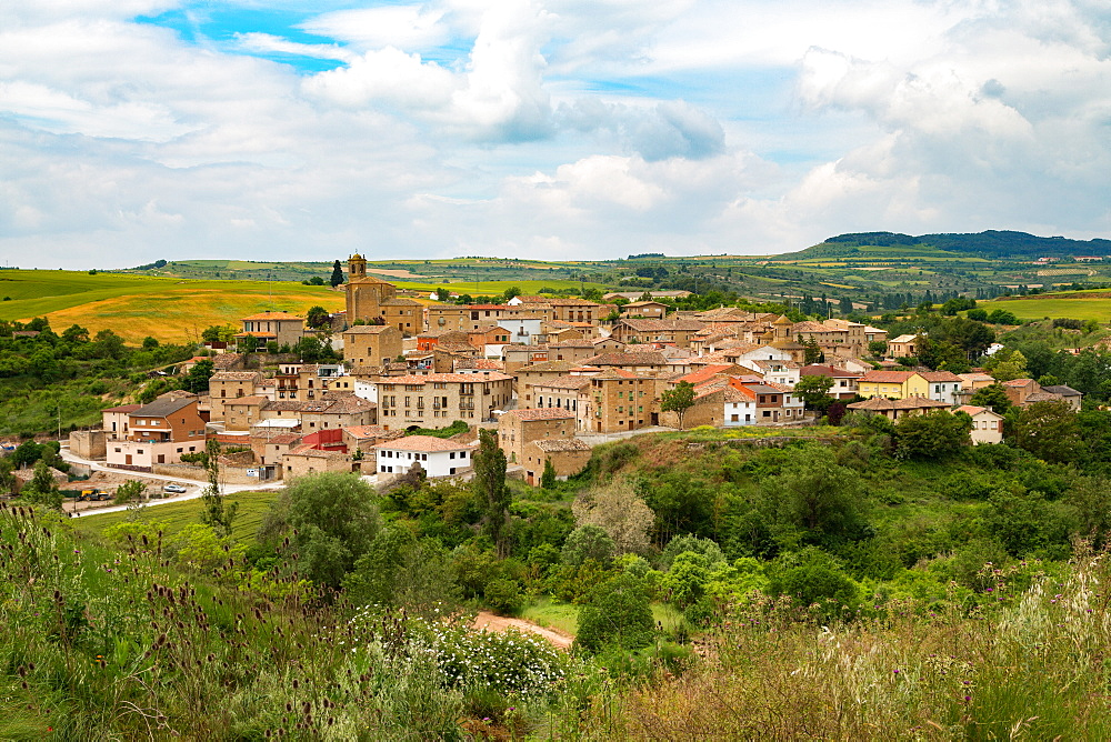 The small unspoilt town of Torres del Rio, Navarra, Spain, Europe