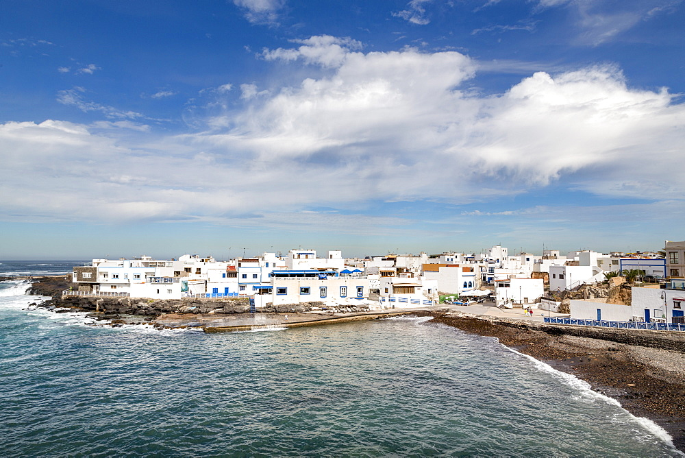 The old town of El Cotillo on the volcanic island of Fuerteventura, Canary Islands, Spain, Atlantic, Europe - 785-2268