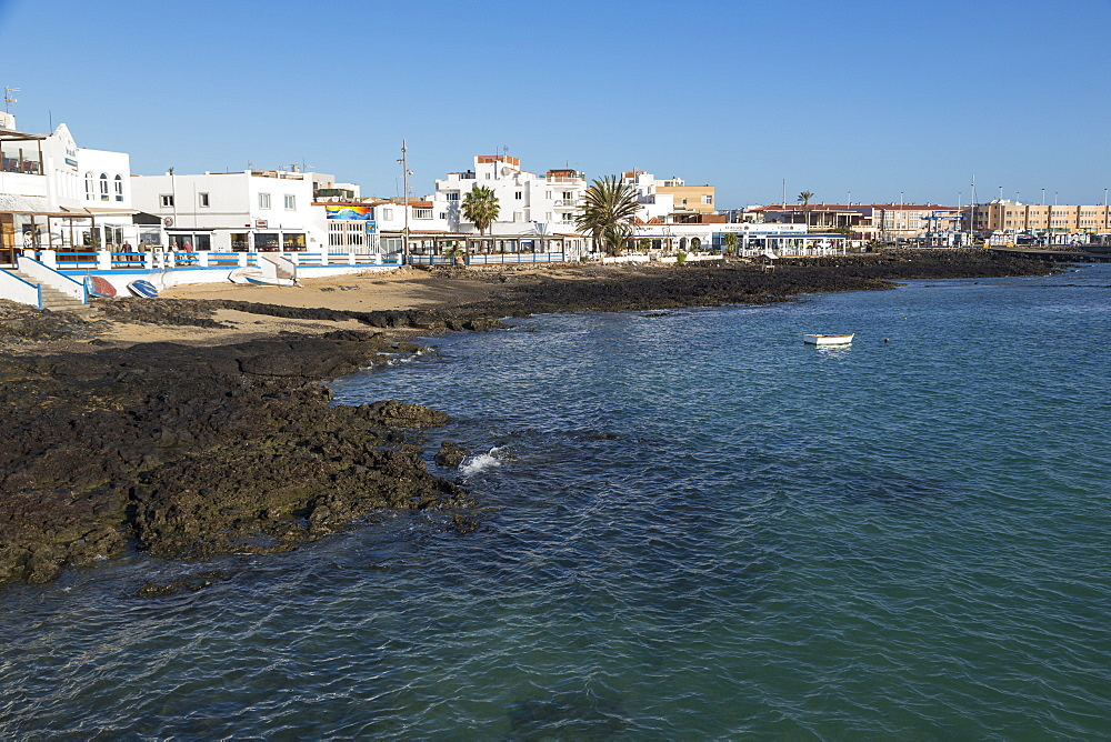The waterfront of old town Corralejo on the island of Fuerteventura, Canary Islands, Spain, Atlantic, Europe - 785-2279
