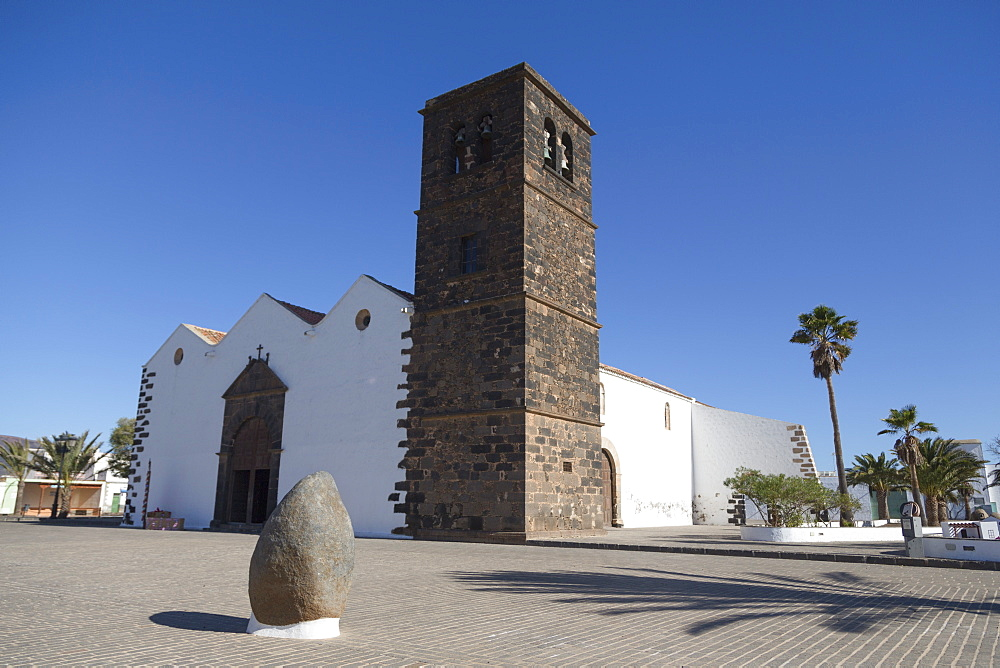 Church of Our Lady of Candelaria in La Oliva on the volcanic island of Fuerteventura, Canary Islands, Spain, Atlantic, Europe - 785-2286