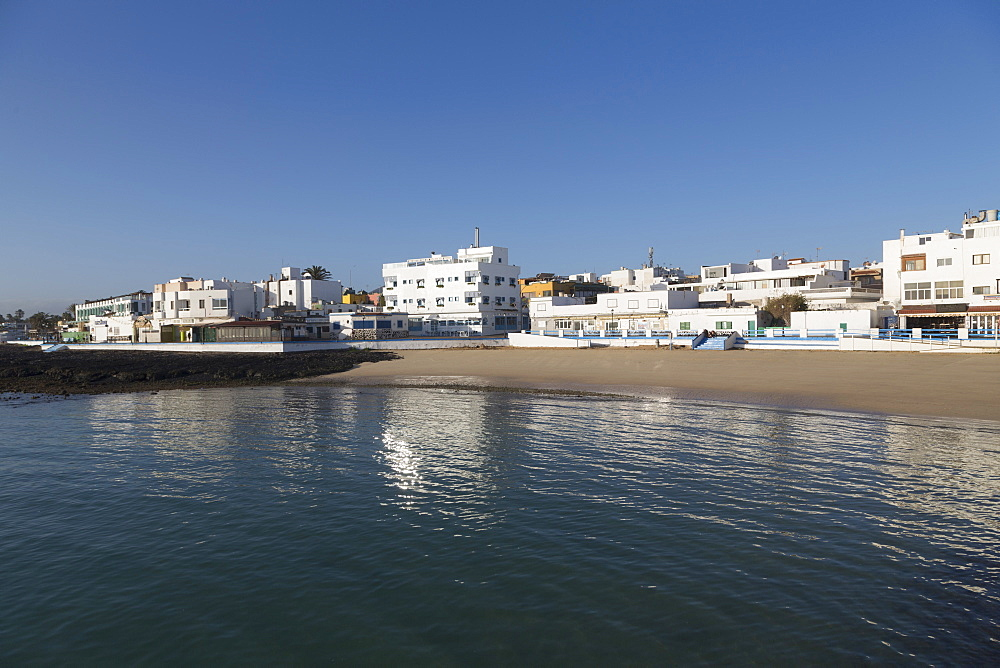 The waterfront of old town Corralejo on the island of Fuerteventura, Canary Islands, Spain, Atlantic, Europe - 785-2292