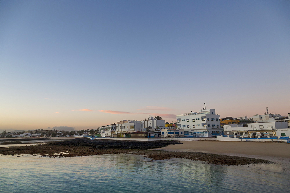 Dawn light over Corralejo on the island of Fuerteventura, Canary Islands, Spain, Atlantic, Europe - 785-2299