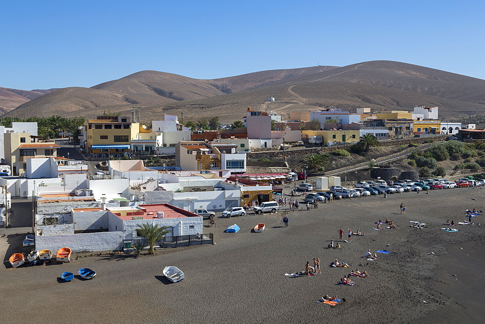 Playa Ajuy on the volcanic island of Fuerteventura, Canary Islands, Spain, Atlantic, Europe - 785-2308