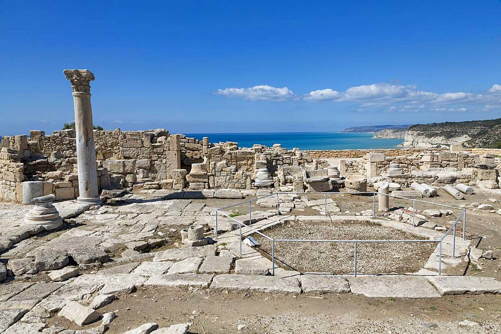 The Roman Nymphaeum in Kourion Archaeological Site in southern Cyprus, Mediterranean, Europe - 785-2344