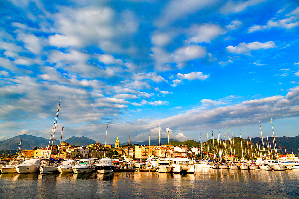 Boats moored in the small harbour of Saint Florent in northern Corsica - 785-2377
