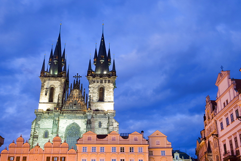 Church of Our Lady before Tyn, Old Town, Prague, Czech Republic, Europe