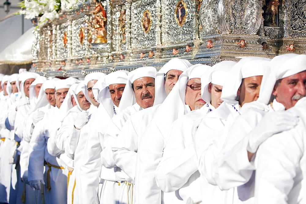 Semana Santa (Holy Week) celebrations, Malaga, Andalucia, Spain, Europe - 794-1158