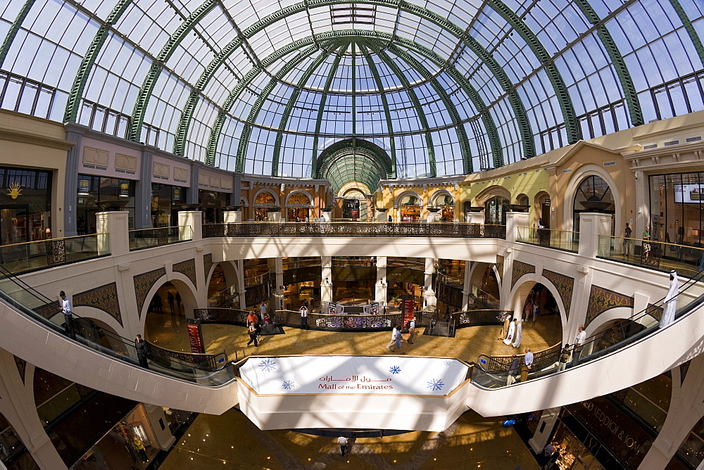 Interior of the Mall of the Emirates, Jumeirah, Dubai, United Arab Emirates, Middle East