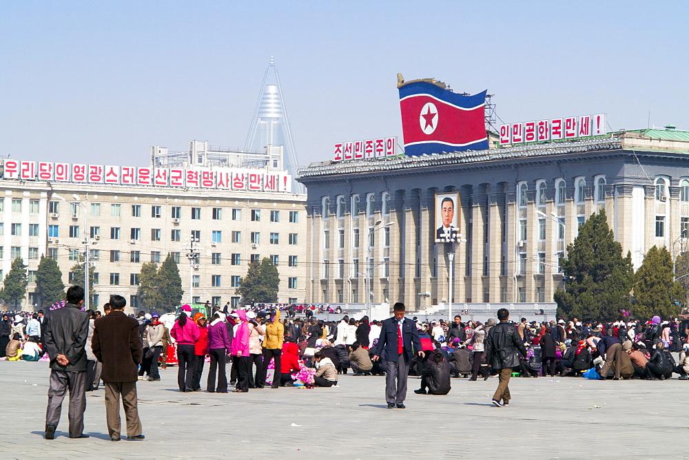 Kim Il Sung Square, Pyongyang, Democratic People's Republic of Korea (DPRK), North Korea, Asia