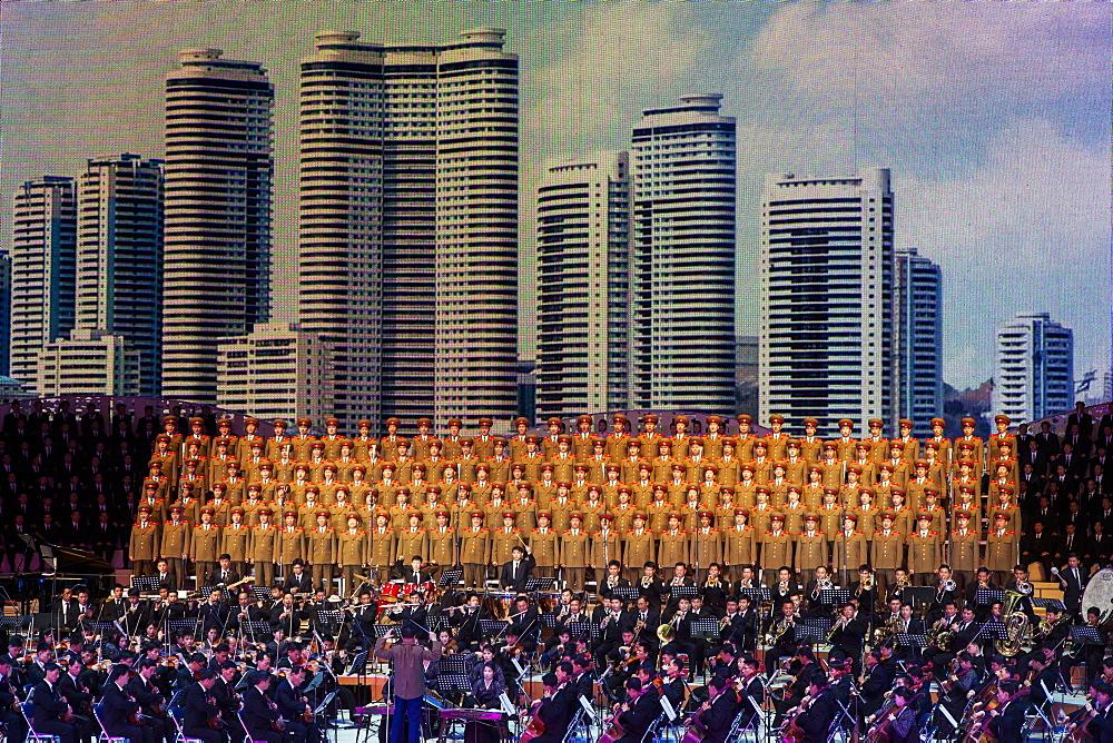 Pyongyang Indoor Stadium performance, Pyongyang, Democratic People's Republic of Korea (DPRK), North Korea, Asia