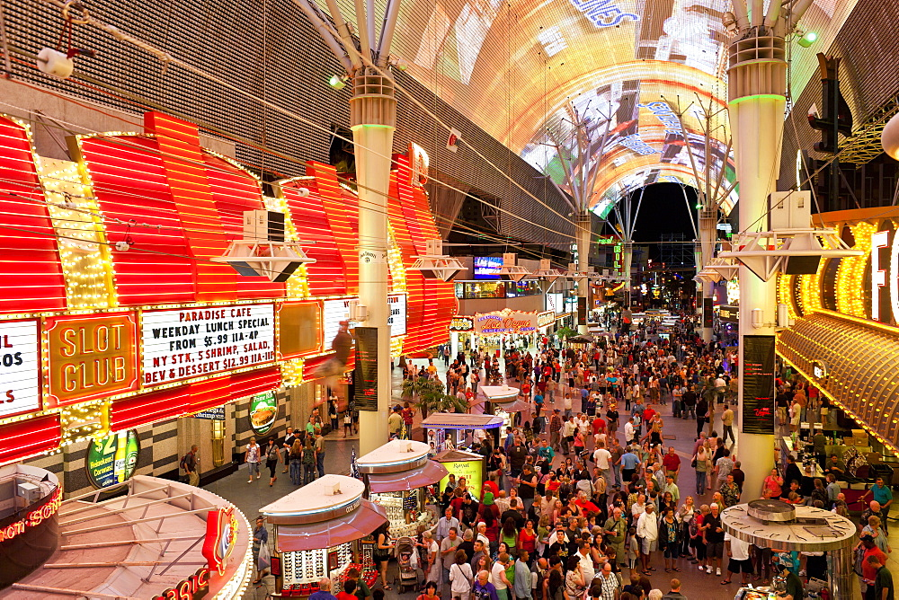 The Fremont Street Experience in Downtown Las Vegas, Nevada, United States of America, North America