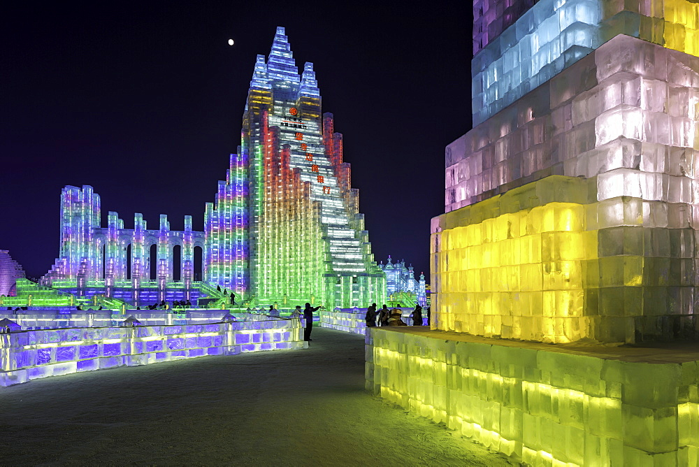 Spectacular illuminated ice sculptures at the Harbin Ice and Snow Festival in Harbin, Heilongjiang Province, China, Asia - 794-4285