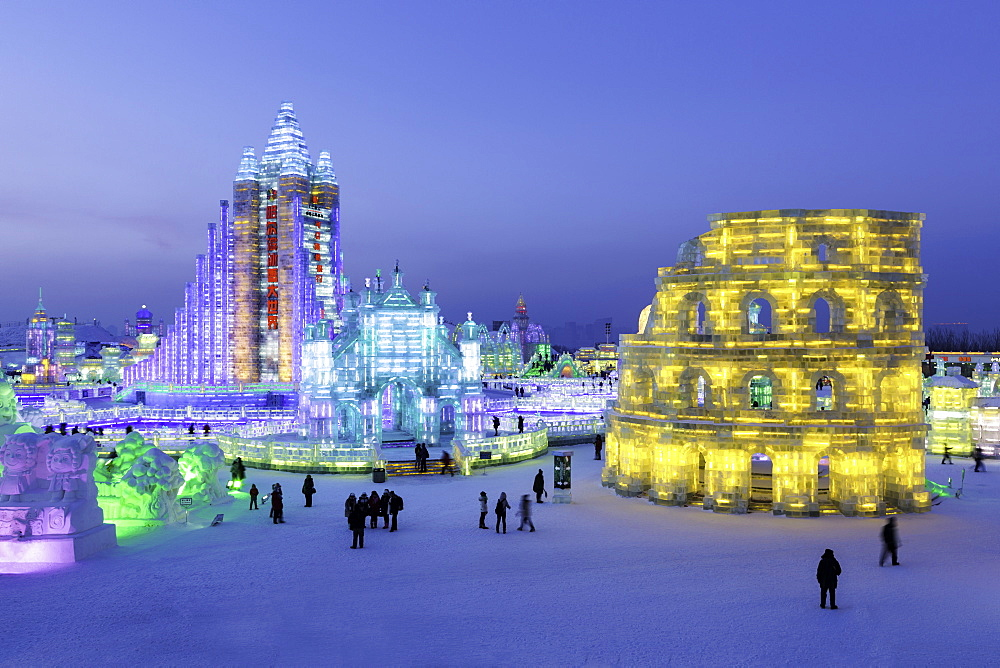 Spectacular illuminated ice sculptures at the Harbin Ice and Snow Festival in Harbin, Heilongjiang Province, China, Asia - 794-4292