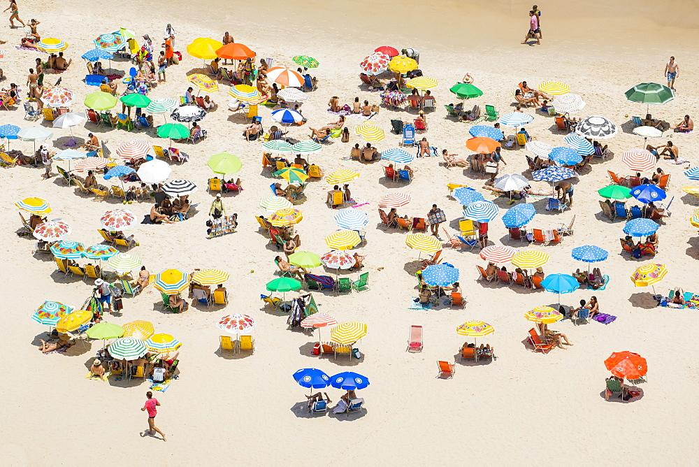 Sunbathers on Ipanema Beach, Rio de Janeiro