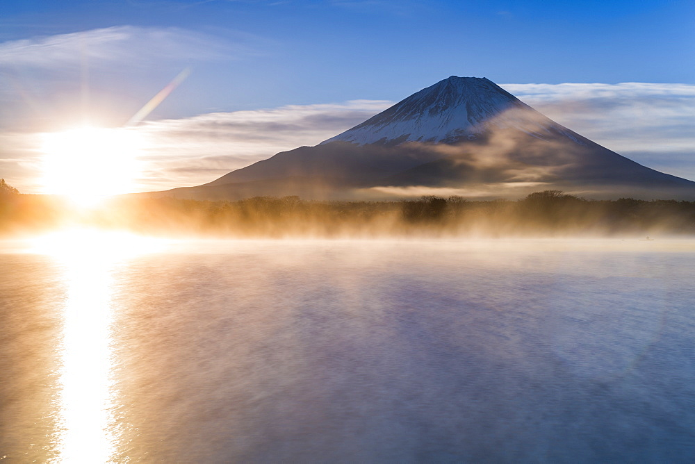 Lake Shoji and Mt Fuji, Fuji Hazone Izu National Park, Japan - 794-4489
